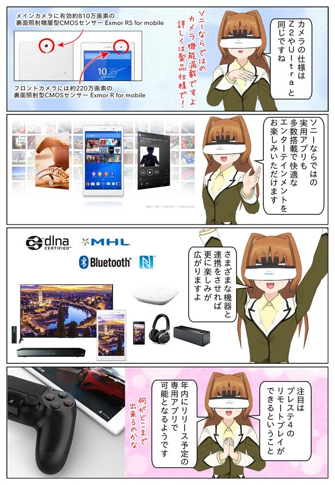 Xperia Z3 Tablet Compact はソニーならではのアプリや技術を搭載で、プレステ4のリモートプレイに対応となります